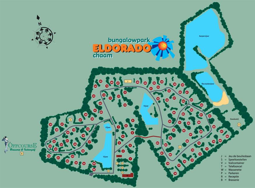 plattegrond bungalowpark Eldorado Eldorado